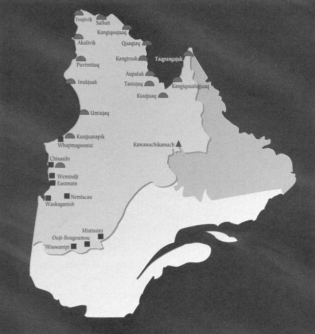 Map Of Cree, Inuit