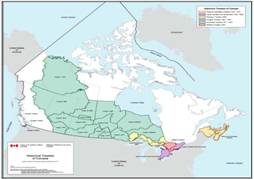 Treaties Of Canada Map Maps of Treaty Making in Canada