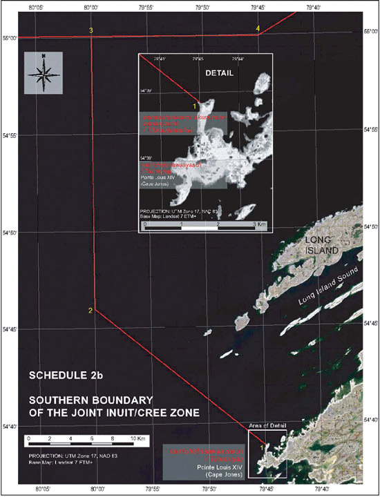 "Schedule 2b - Map ""Southern Boundary of the Joint Inuit / Cree Zone"""