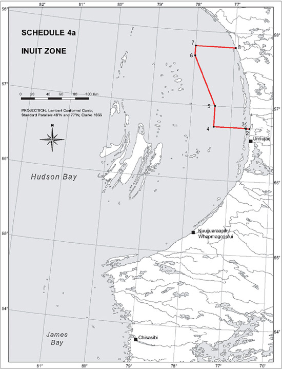 Schedule 4a - Map Inuit Zone