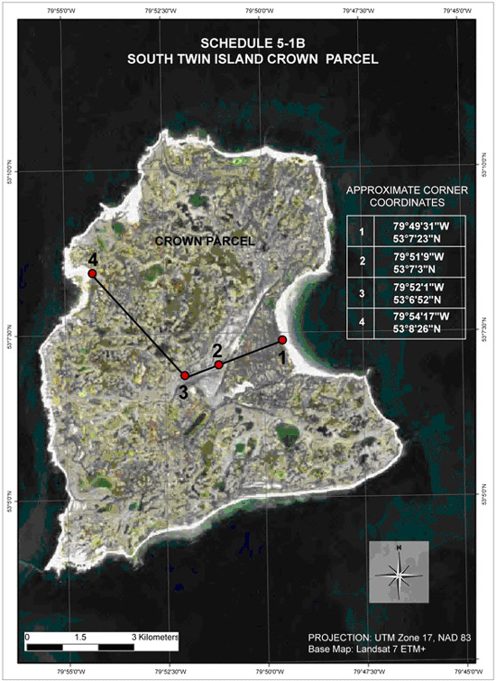 Schedule 5-1B South Twin Island Crown Parcel