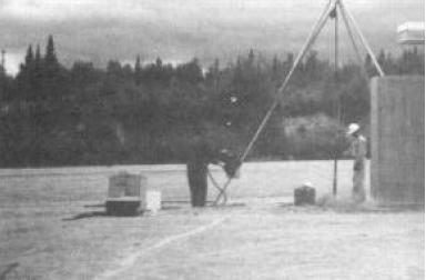 Installation of a monitoring well